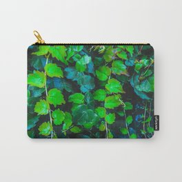 green ivy leaves texture background Carry-All Pouch