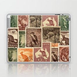 Vintage Australian Postage Stamps Collection Laptop & iPad Skin