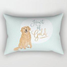 Heart of Gold // Golden Retriever Rectangular Pillow