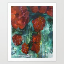 Rasberries Art Print