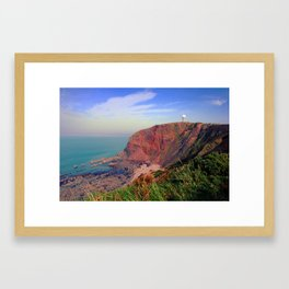 Hartland point Framed Art Print