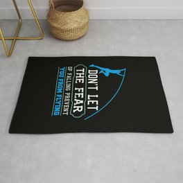 Pole Vault Gift: Don't let the fear of falling Rug