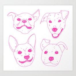 Very Good Pups Art Print