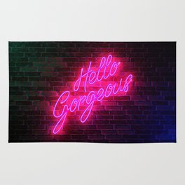 Hello Gorgeous - Neon Sign Rug