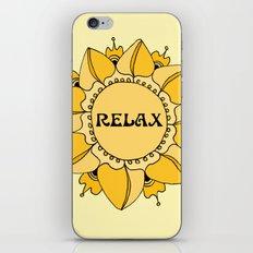 Relax Nouveau Golden Sun Mandala iPhone Skin