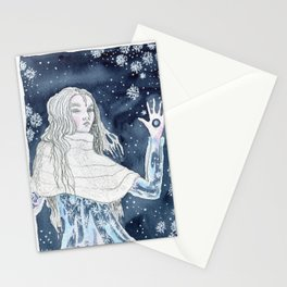 Snow Queen at the window Stationery Cards