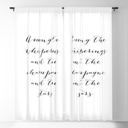Among the whisperings and the champagne and the stars - The Great Gatsby Blackout Curtain