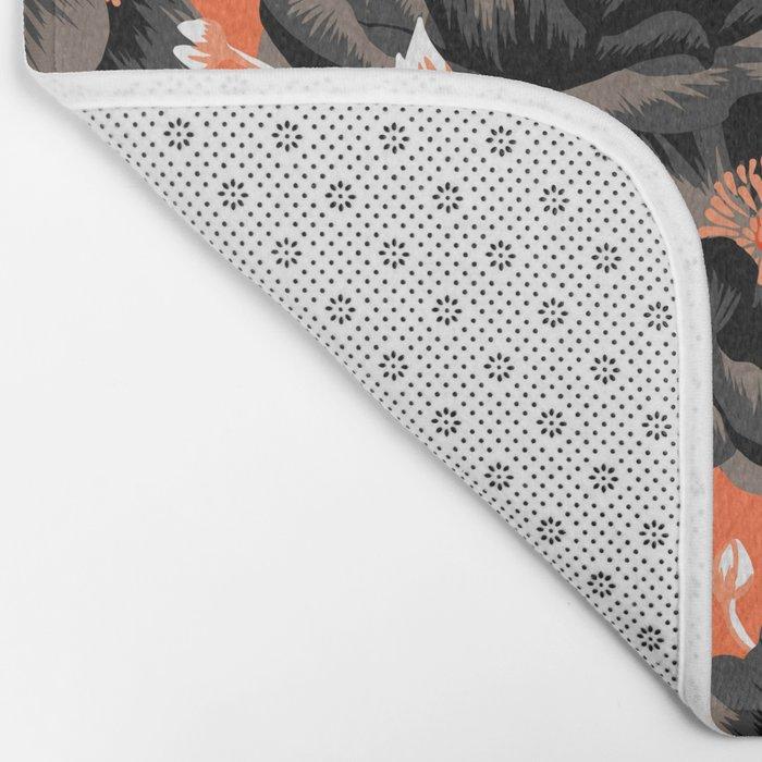 Mount Cook Lily - Orange/Black Bath Mat