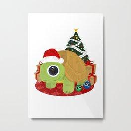 Christmas - Turtle Metal Print