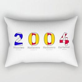 2004 - NAVY - My Year of Birth Rectangular Pillow