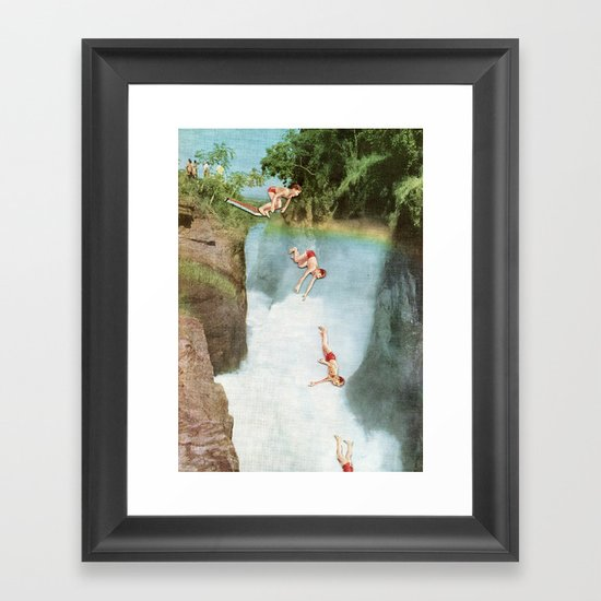 Diving Board Framed Art Print