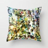 circles Throw Pillows featuring Circles by Tina Carroll