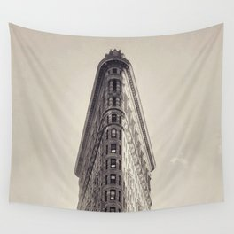 Flatiron Building, original New York photography, skyscrapers, wall decoration, home decor, nyc b&w Wall Tapestry