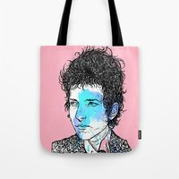 dylan Tote Bags featuring Dylan by Samuel Charrois