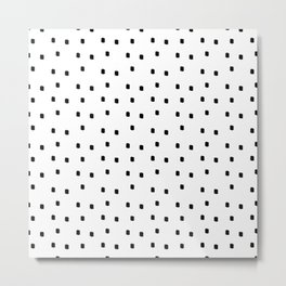 Dotty Dots Black and white Metal Print