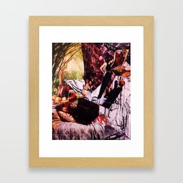 The News is Always on My Back About Nonsense But I Want a New Zealand Rosemary Lamb Shank, too Framed Art Print