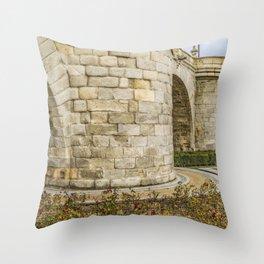 Segovia Bridge at Madrid, Spain Throw Pillow