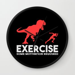 Exercise Some Motivation Required Funny Gym Illustration Wall Clock