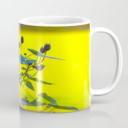 Still Beautiful - Flower Silhouette On a Green Background #decor #society6 #buyart Coffee Mug