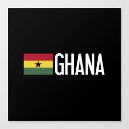 Ghana: Ghanaian Flag & Ghana Canvas Print