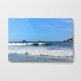 Costa Rican Surfing Waves Metal Print