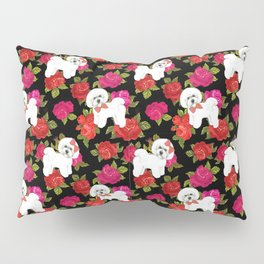 Bichon Frise dogs red rose floral for dog lovers Pillow Sham