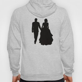 Wedding Couple Silhouette Design For Weddings Hoody