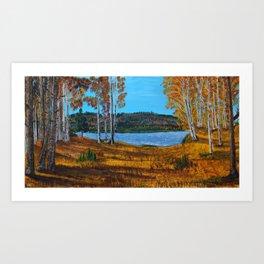 Autumn Lake - Acrylic Art Print