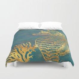 Deep Sea Life Seahorse Duvet Cover