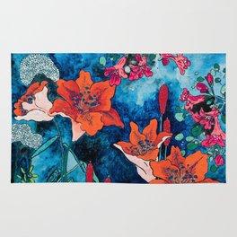 Blooming Night Garden: Twilight Rug