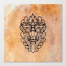 Barong, Balinese mask / The Beach movie Richard's t-shirt Canvas Print