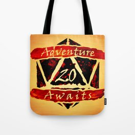 D20 Adventure Awaits Watercolor Way of Blood Tote Bag