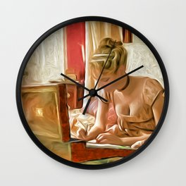 Letter to a loved one Wall Clock