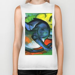 """Franz Marc """"Two Cats, Blue and Yellow' Biker Tank"""