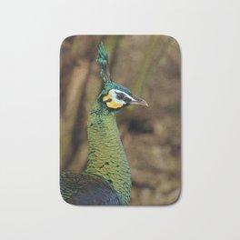 Green Peafowl Bath Mat