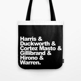 nasty women: senators (w) Tote Bag