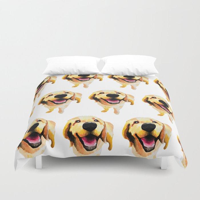 Yellow Labrador Retriever dog art Duvet