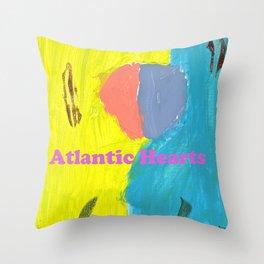 Atlantic Hearts Throw Pillow