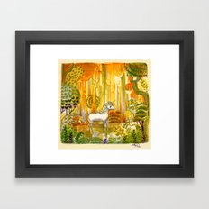 Saint Francis's Unicorn Framed Art Print