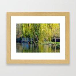 Canal Boat Framed Art Print