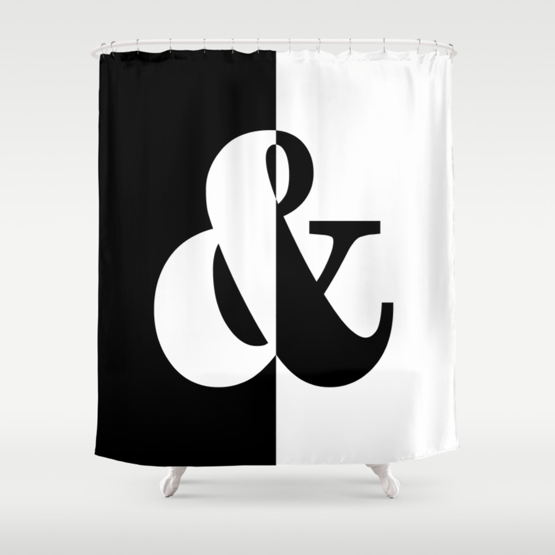 Blackwhite Graphicdesign Typography And Vector Shower Curtains - Hand lettered us map black and white shower curtain