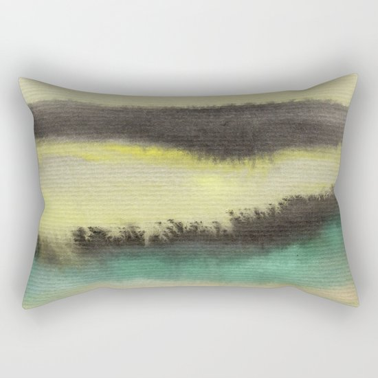 Watercolor abstract landscape 02 Rectangular Pillow