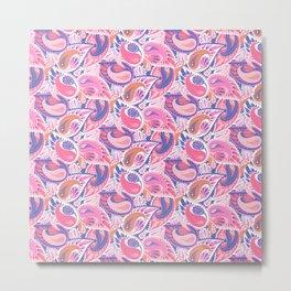 Soft pink paisley Metal Print