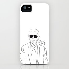 Karl Lagerfeld & Choupette iPhone Case