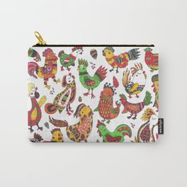Roosters and hen pattern Carry-All Pouch