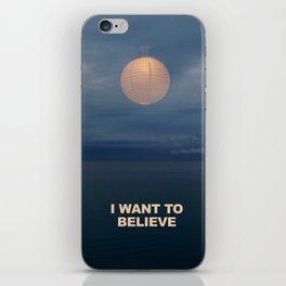 I WANT TO BELIEVE - IKEA RMX iPhone Skin