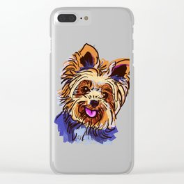 The cute smiley Yorkie love of my life! Clear iPhone Case
