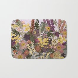 Pressed Flower English Garden Bath Mat