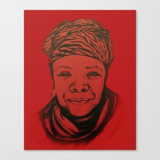 Maya Angelou - (red) Original Sketch to Digital Canvas Print