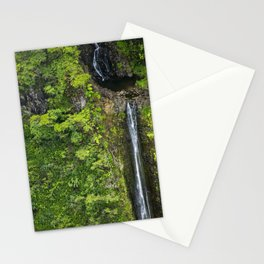Just Beyond the No Trespassing Sign - Crooked Tropical Waterfall Stationery Cards